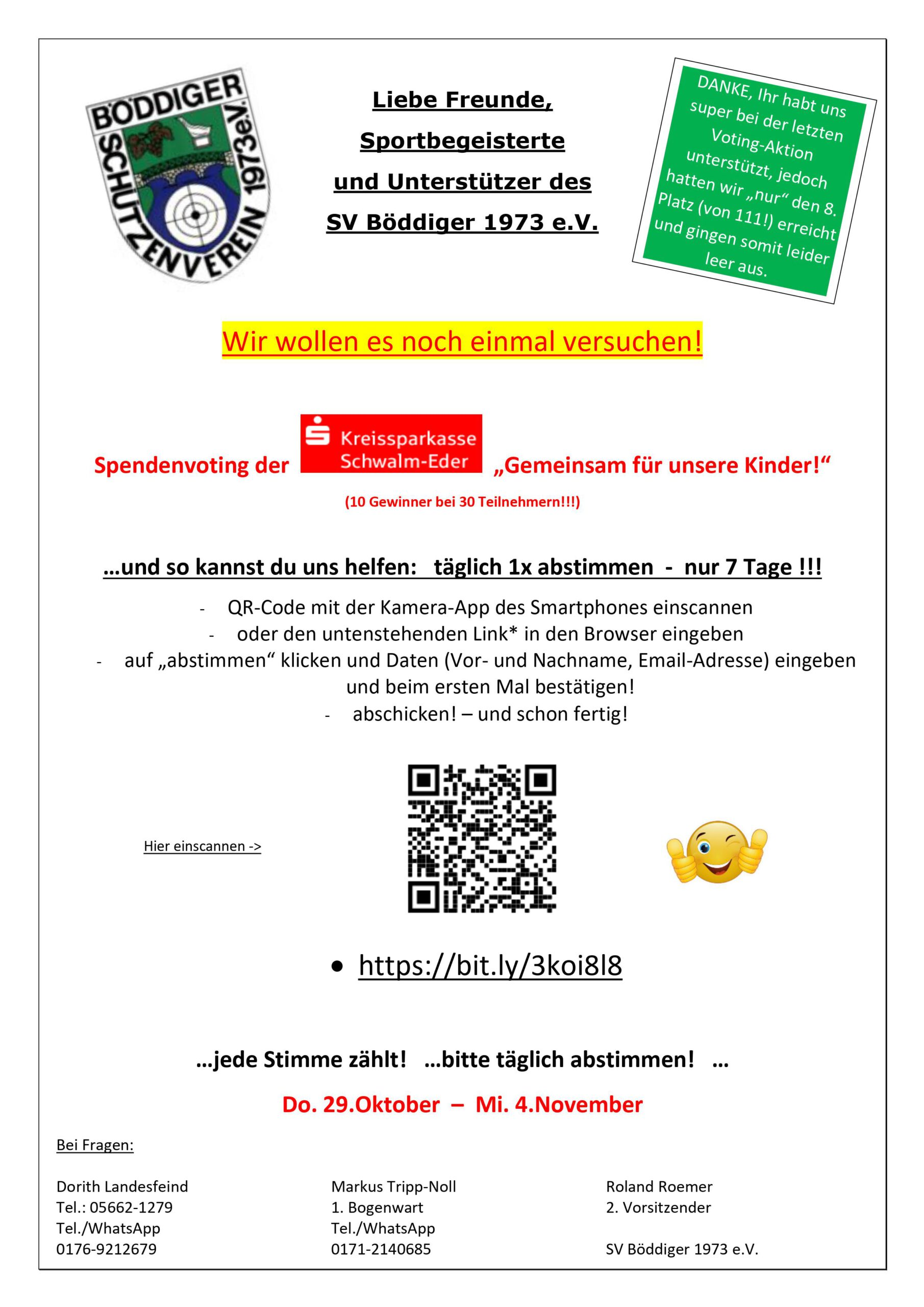 Flyer Spendenvoting